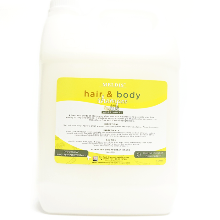 Hair & Body Shampoo SHA102 Label