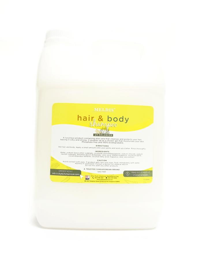 Hair & Body Shampoo SHA102 Label