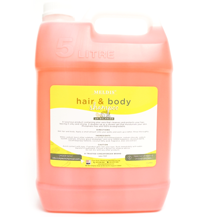 Hair & Body Shampoo SHA101 Label