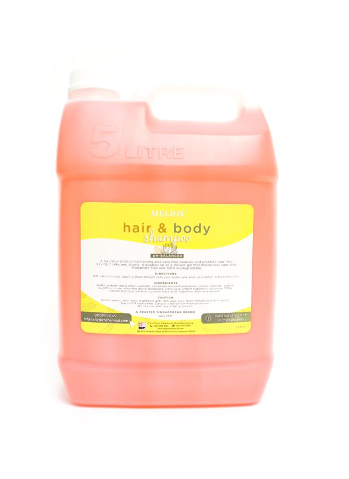 Hair & Body Shampoo SHA101 Label