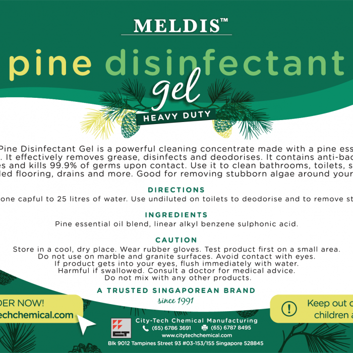 Pine Disinfectant Gel FCA103 Label