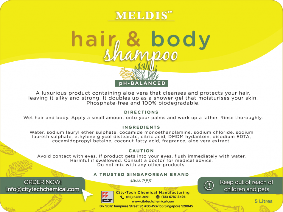 Hair & Body Shampoo (SHA101) – City-Tech Chemical Manufacturing Pte Ltd