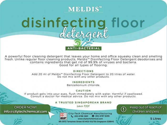 Disinfecting Floor Cleaner FCA108 Label