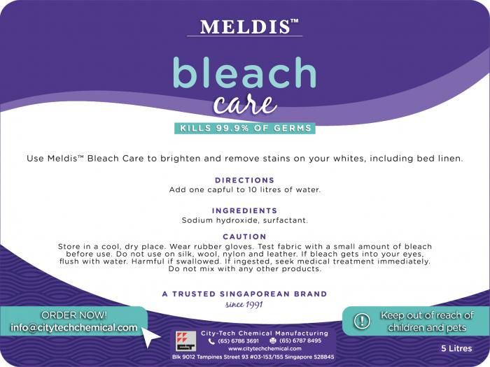 Bleach Care BCA100 Label