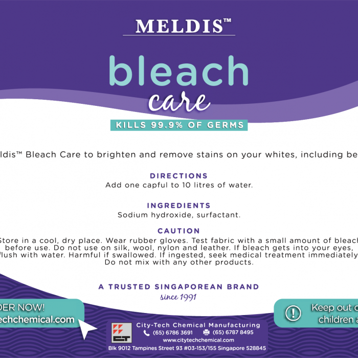 Bleach Care BCA100 Label