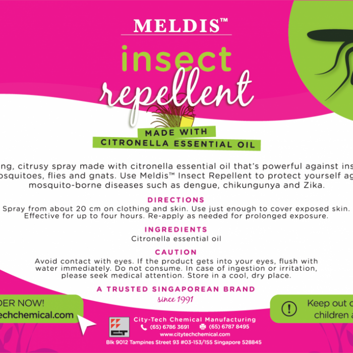 Meldis™ Insect Repellent Label